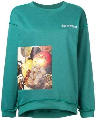 Au Jour Le Jour (オージュール ルジュール) - Au Jour Le Jour Caravaggio print sweatshirt