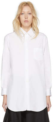 Comme des Garcons White Long Broadcloth Shirt