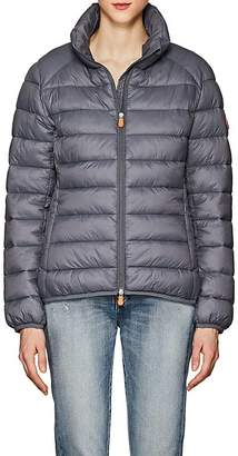 Save The Duck SAVE THE DUCK WOMEN'S CHANNEL-QUILTED TECH-FABRIC PUFFER JACKET