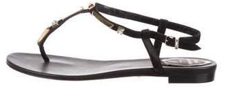 Rene Caovilla Embellished T-Strap Sandals