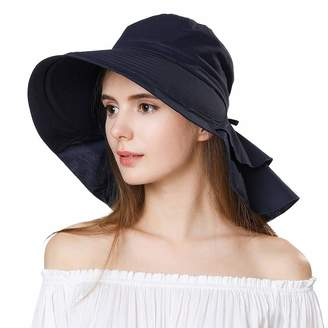 Siggi Comhats Womens Summer Bill Flap Golf Cap UV 50 Cotton Sun Hat with  Neck Cover 6ace9f945f5