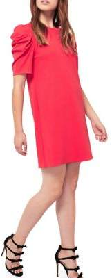 Miss Selfridge Puff-Sleeve Shift Dress
