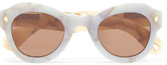Fly London Lucy Folk Away Round-frame Acetate Sunglasses