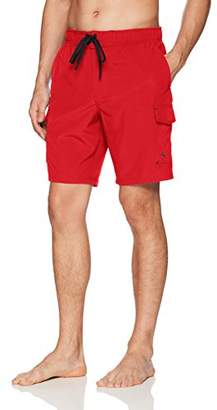 ZeroXposur Men's Axed Printed 4 Way Stretch Board Short