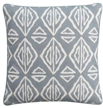 'Moroccan Geo' Crewel Embroidered Pillow