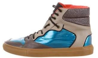 Balenciaga Round-Toe High-Top Sneakers