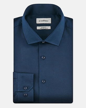 Le Château Tonal Cotton Blend Tailored Fit Shirt