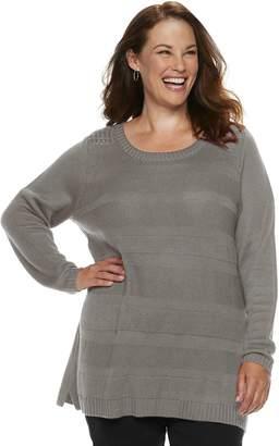 Croft & Barrow Plus Size Pointelle Sweater