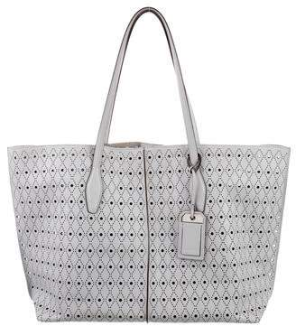 Tod's Leather Laser Cut Tote