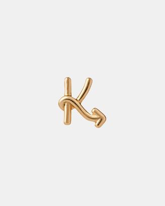 Karen Walker K Initial Love Letter Stud