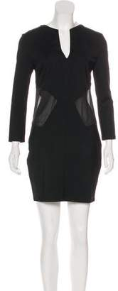 Just Cavalli Mesh-Trimmed Mini Dress