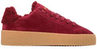 DSQUARED2 shearling-lined sneakers