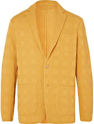 Altea Marigold Textured-Cotton Blazer