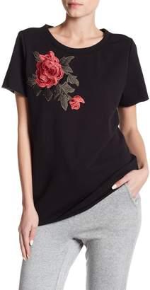 Romeo & Juliet Couture Embroidered Short Sleeve Sweatshirt