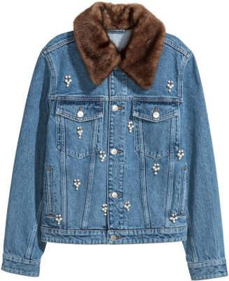 H&M Embellished denim jacket - Blue