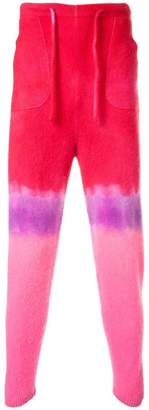 The Elder Statesman tie dye track pants