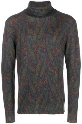 Etro paisley turtleneck sweater