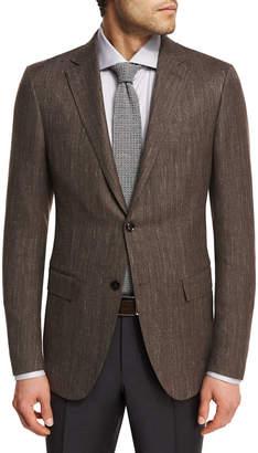 Ermenegildo Zegna Herringbone Wool-Blend 2-Button Sport Coat