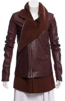 Rick Owens Moody Leather Biker Jacket w/ Tags
