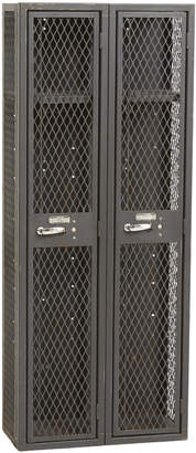Rejuvenation Tall Two-Door Expanded Metal Locker Unit