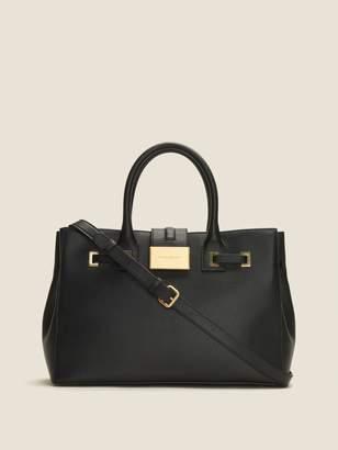 Donna Karan Donnakaran Kami Leather Buckle Tote Black Unsized Item