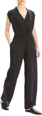 Theory Silk Wide-Leg Pull-On Pants