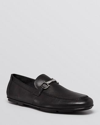 Salvatore Ferragamo Nowell Driving Loafers $560 thestylecure.com