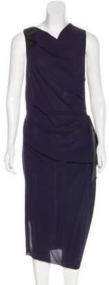 Nina Ricci Silk Draped Dress
