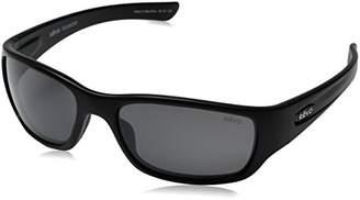 Revo Heading RE 4058 01 GY Polarized Rectangular Sunglasses, Matte Black/Graphite, 59 mm