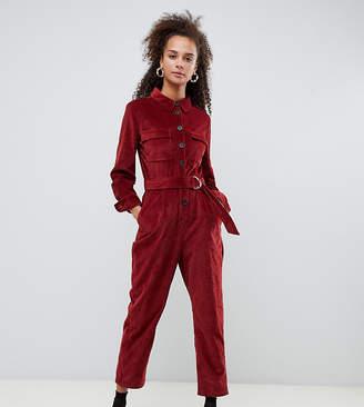 Bershka cord utility jumpsuit