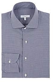 Boglioli Men's Mini-Houndstooth Cotton Poplin Dress Shirt - Navy