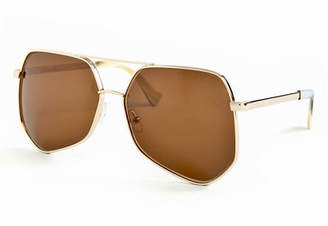 Grey Ant Megalast Large Aviator Sunglasses $420 thestylecure.com
