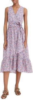 J.Crew Liberty® Kayoko Floral Sleeveless Faux Wrap Dress