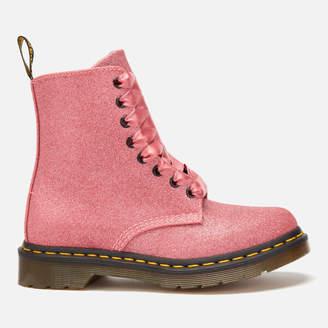 Dr. Martens Women's 1460 Pascal Glitter 8-Eye Boots - Pink