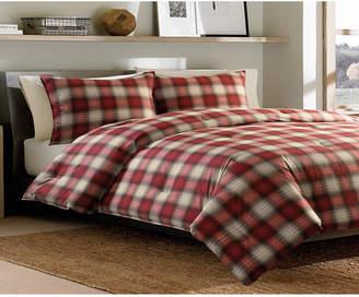 Eddie Bauer Navigation Plaid Red Full/Queen Comforter Set Bedding