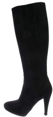 Valentino Suede High-Heel Boots