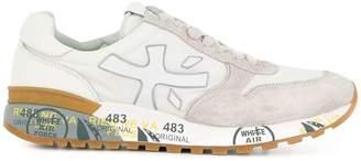 Premiata White printed midsole sneakers