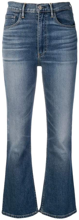 high-waist cropped jeans