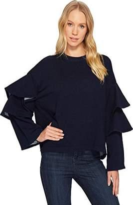 AG Adriano Goldschmied Women's Pearl Ruffle Sweatshirt