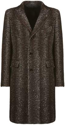 Tagliatore Mesh Tweed Coat