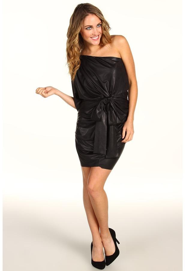 T-Bags Tbags Los Angeles - One Shoulder Dress (Black) - Apparel