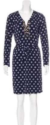 Michael Kors Printed Long Sleeve Dress