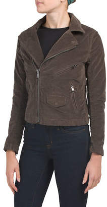 Stretch Velour Moto Jacket