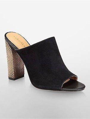 Calvin KleinCalvin Klein Womens Janica Suede Mule Shoe