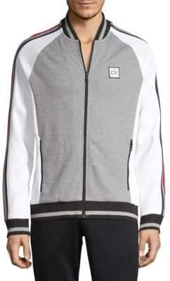 Calvin Klein Raglan Striped Bomber Jacket
