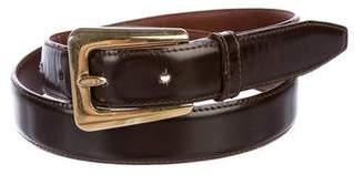 Salvatore Ferragamo Leather Skinny Belt