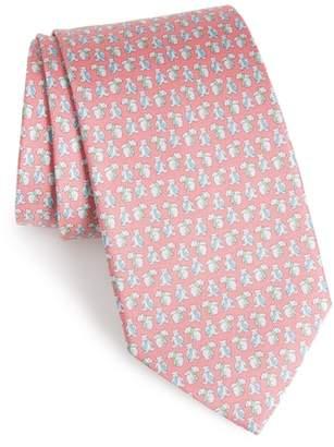 Salvatore Ferragamo Flint Print Silk Tie