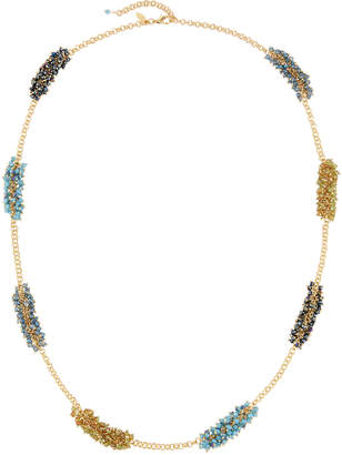 Emily and Ashley Greenbeads By Beaded Crystal Station Necklace