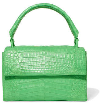 Nancy Gonzalez Crocodile Tote - Green