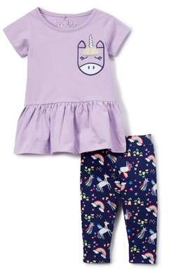 Freestyle Revolution Peplum Top and Printed Leggings (Toddler Girls)